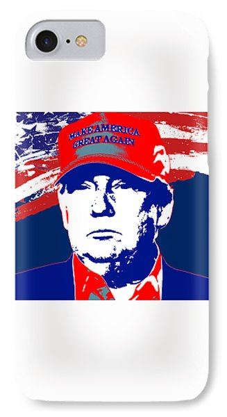 Donald Trump 2016 Presidential Candidate IPhone Case by Elena Kosvincheva