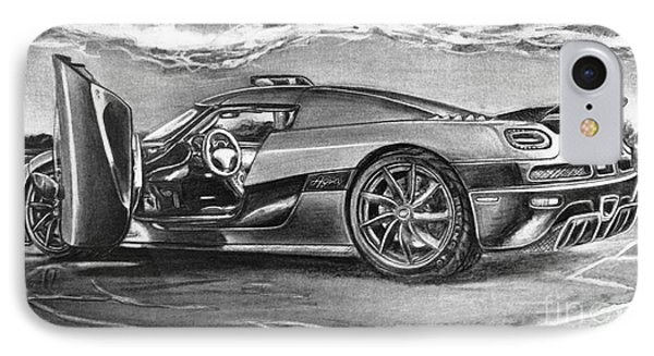 #3 2010 #3 Koenigsegg Ccx_agera IPhone Case by Gary Reising