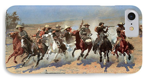 A Dash For The Timber IPhone Case by Frederic Remington
