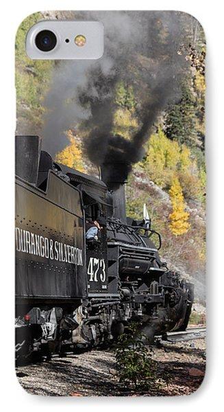 IPhone Case featuring the photograph A Durango And Silverton Narrow Gauge Scenic Railroad Train Chugs Through The San Juan Mountains by Carol M Highsmith