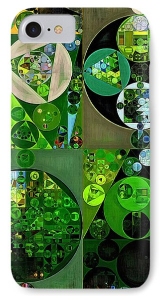 Abstract Painting - Sap Green IPhone Case by Vitaliy Gladkiy