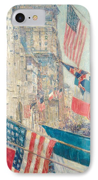Allies Day, May 1917 IPhone Case by Childe Hassam