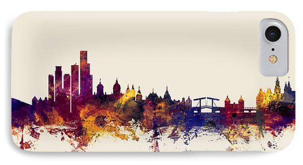 Amsterdam The Netherlands Skyline IPhone Case