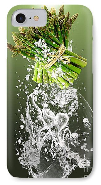 Asparagus Splash IPhone Case by Marvin Blaine