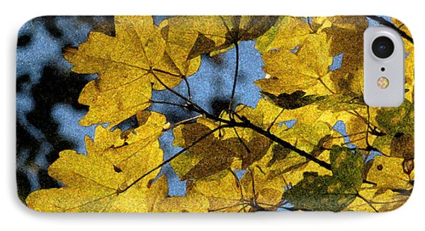 IPhone Case featuring the photograph Autumn Leaves by Jean Bernard Roussilhe
