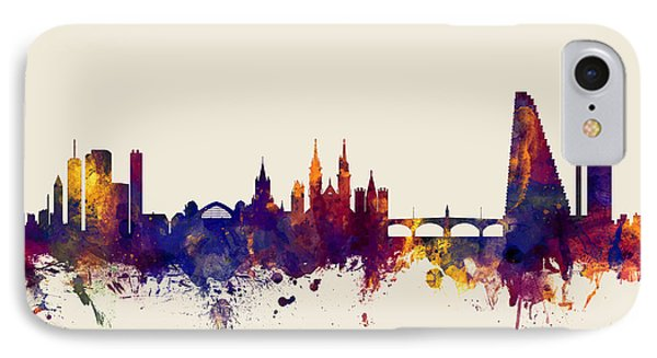 Basel Switzerland Skyline IPhone Case by Michael Tompsett