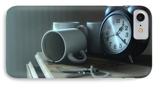 Bedside Table Insomnia Scene IPhone Case by Allan Swart
