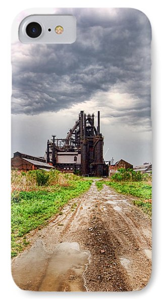 IPhone Case featuring the photograph Bethlehem Steel by Michael Dorn