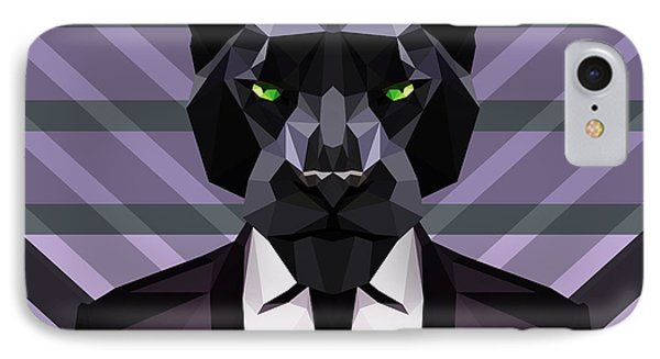 Black Panther IPhone Case by Gallini Design