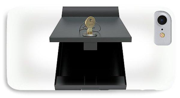 Black Safe Deposit Box IPhone Case by Allan Swart