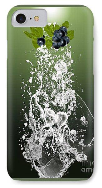 Blueberry Splash IPhone Case by Marvin Blaine