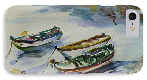 3 Boats I IPhone Case by Xueling Zou