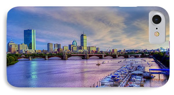 Boston Skyline Sunset IPhone Case by Joann Vitali