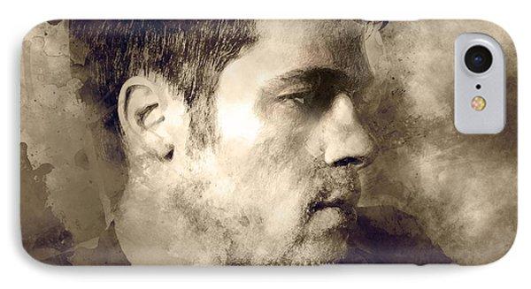 Brad Pitt Portrait IPhone Case