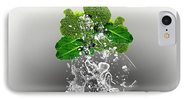 Broccoli Splash IPhone Case by Marvin Blaine