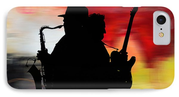 Bruce Springsteen iPhone 7 Case - Bruce Springsteen Clarence Clemons by Marvin Blaine