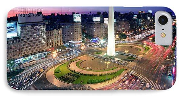 IPhone Case featuring the photograph Buenos Aires Obelisk by Bernardo Galmarini