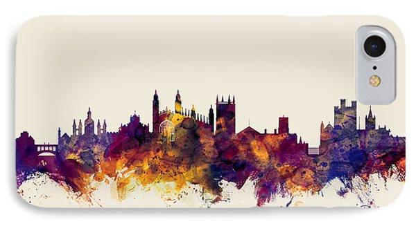 Cambridge England Skyline IPhone Case by Michael Tompsett