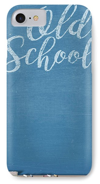 Chalk Board Split IPhone Case by Allan Swart