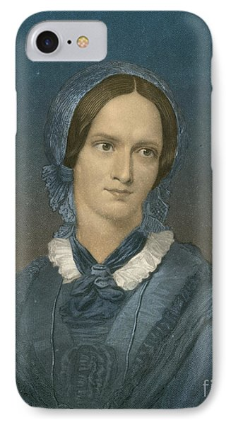 Charlotte Bronte, English Author Phone Case by Photo Researchers