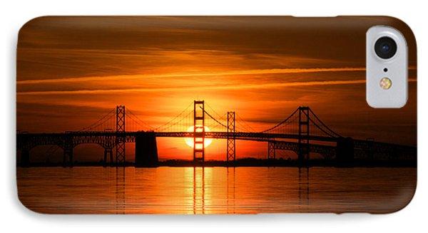 Chesapeake Bay Bridge Sunset IPhone Case by Mark  Dignen