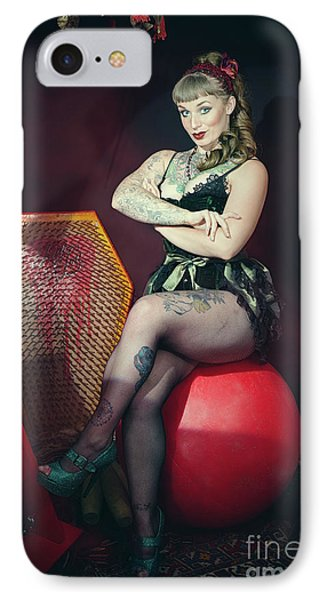 Circus Performer IPhone Case by Amanda Elwell