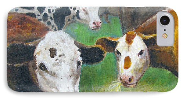 3 Cows IPhone Case by Oz Freedgood