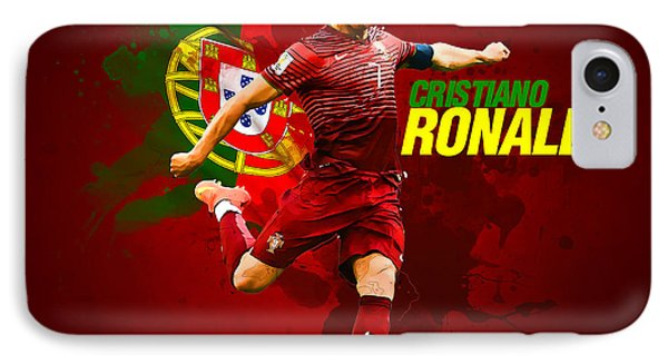 Cristiano Ronaldo IPhone Case by Semih Yurdabak