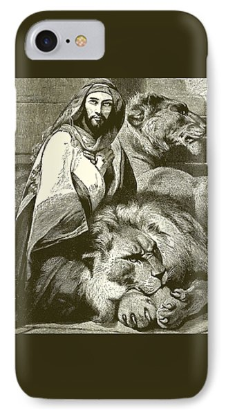 Daniel In The Lions Den IPhone Case by English School