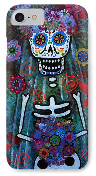 Day Of The Dead Bride IPhone Case by Pristine Cartera Turkus