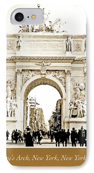Dewey's Arch, New York, 1900, Vintage Photograph IPhone Case by A Gurmankin