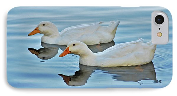 IPhone Case featuring the photograph 3- Ducks by Joseph Keane