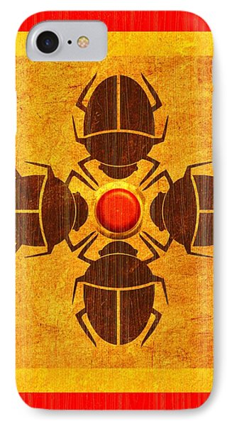 Egyptian Scarab Beetle IPhone Case by John Wills