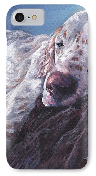 IPhone Case featuring the painting English Setter by Lee Ann Shepard
