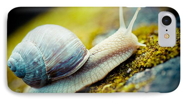 Escargot Snail Artmif.lv IPhone Case by Raimond Klavins
