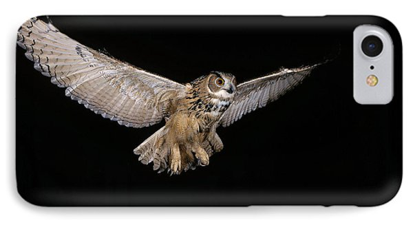 European Eagle Owl Bubo Bubo IPhone Case