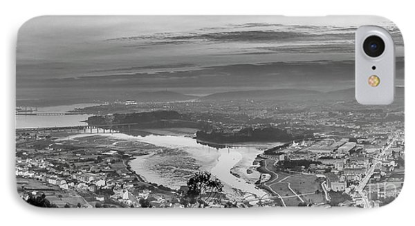 IPhone Case featuring the photograph Ferrol's Ria Panorama From Mount Ancos Galicia Spain by Pablo Avanzini