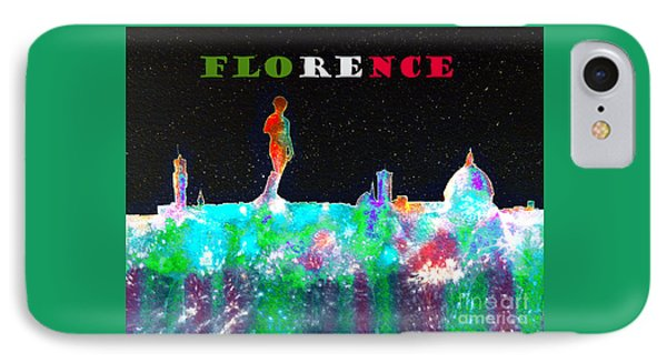 Florence Italy Skyline IPhone Case by Bill Holkham