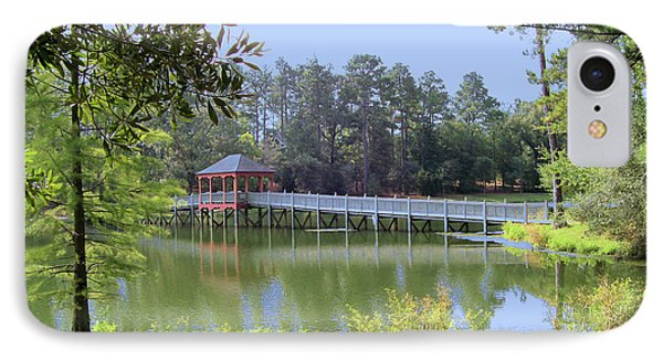 Gazebo On The Lake IPhone Case by Diane Ferguson