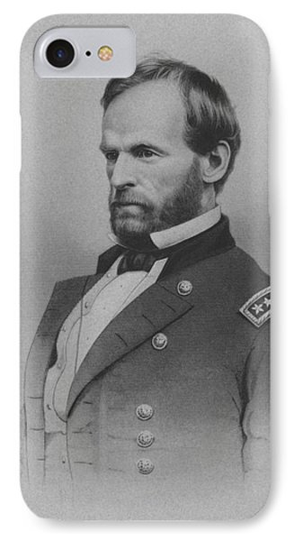 General William Tecumseh Sherman IPhone Case by War Is Hell Store