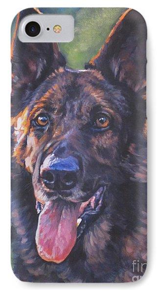 German Shepherd Phone Case by Lee Ann Shepard