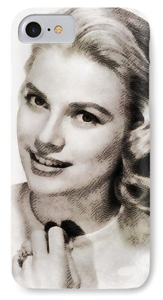 Grace Kelly iPhone 7 Case - Grace Kelly, Vintage Hollywood Actress by John Springfield