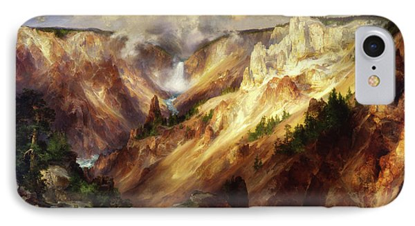 IPhone Case featuring the painting Grand Canyon Of The Yellowstone by Thomas Moran