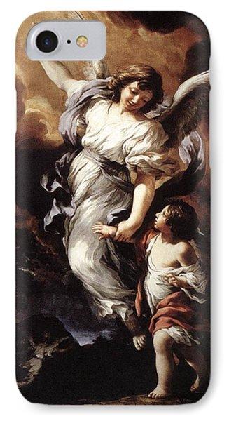 Guardian Angel IPhone Case by Pietro da Cortona