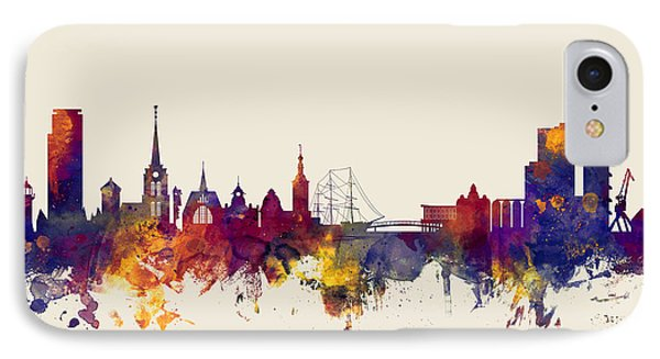 Halmstad Sweden Skyline IPhone Case
