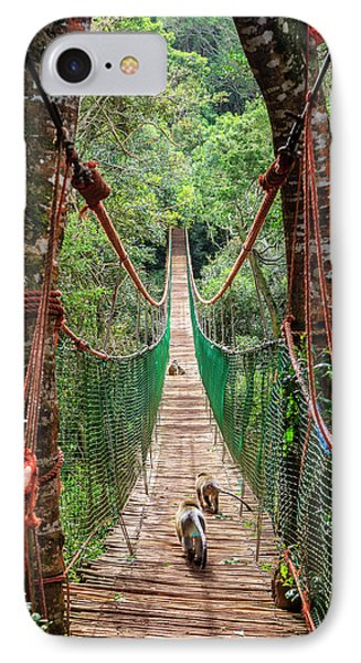 IPhone Case featuring the photograph Hanging Bridge by Alexey Stiop