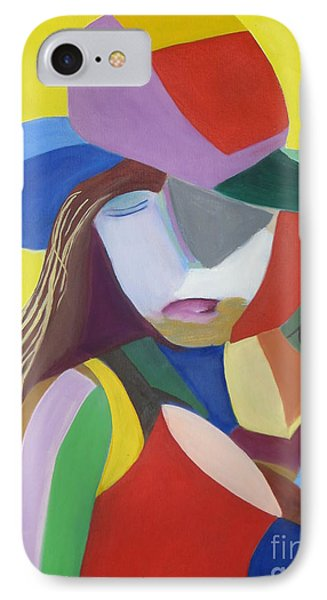 IPhone Case featuring the painting Hat by Patricia Cleasby