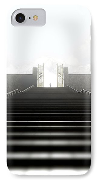 Heavens Gates And Silhouette IPhone Case by Allan Swart