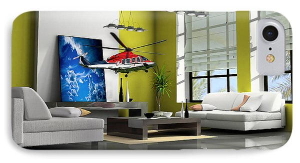 Helicopter Art IPhone Case