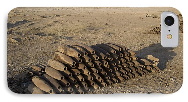 Inert Artillery Shells Are Stacked Phone Case by Terry Moore